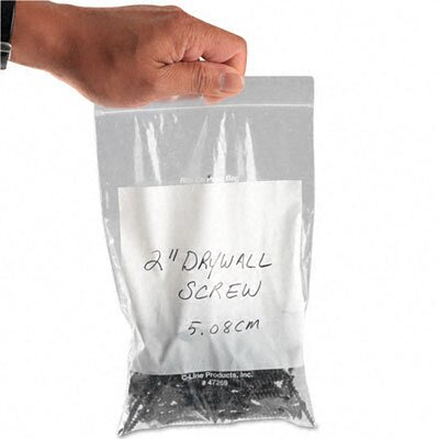 C-Line Products, Inc. Write-On Recloseable Poly Small Parts Bags, 6 X 9 (1000/Carton)
