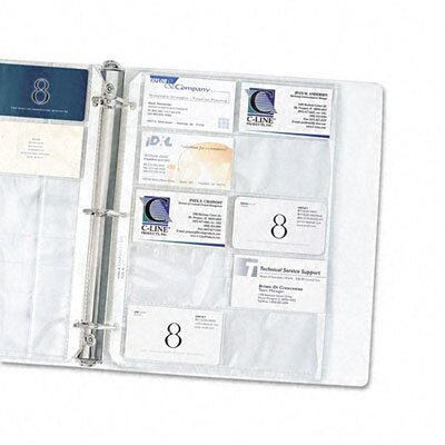 C-Line Products, Inc. Business Card Binder Pages with Holds 20 Cards (10/Pack)