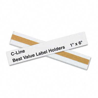 C-Line Products, Inc. Label Holders, 6 X 1 (50/Pack)
