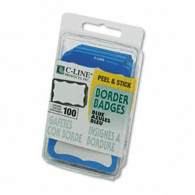 C-Line Products, Inc. Self-Adhesive Name Badges, 3-1/2 X 2-1/4, 100/Box