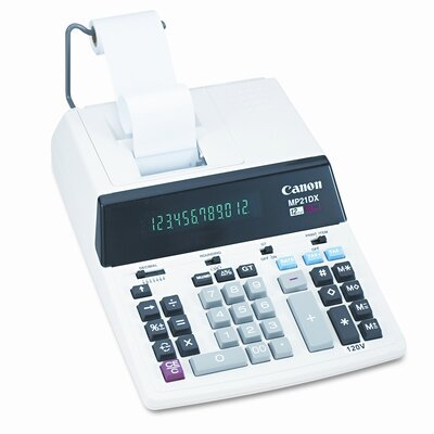 Canon MP21DX Desktop Calculator, 12-Digit Fluorescent, Two-Color Printing