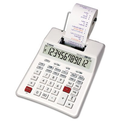 Canon P23-DHVG 12-Digit Two-Color Printing Calculator, White