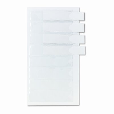 Cardinal Brands, Inc Self-Adhesive Label Holders for Binders, 3/4 x 3, Clear, 8 per Pack