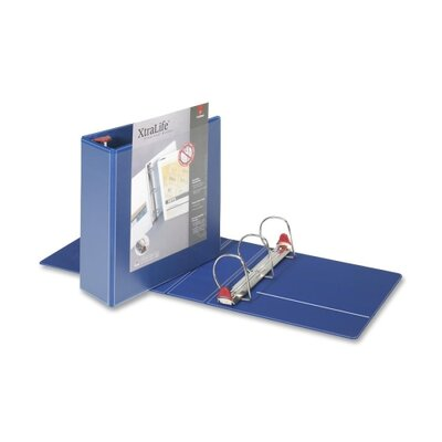 "Cardinal Brands, Inc Clearvue Binder, D-Ring, 3"" Capacity, 11""x8-1/2"", Blue"