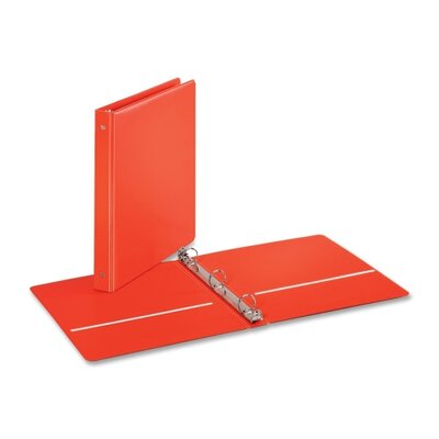 "Cardinal Brands, Inc EconomyValue Round-ring Binders, w/ 2 Pockets, 1"" Cap., Red"