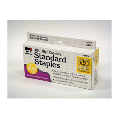 Charles Leonard Co. High Capacity Standard Staples 5000