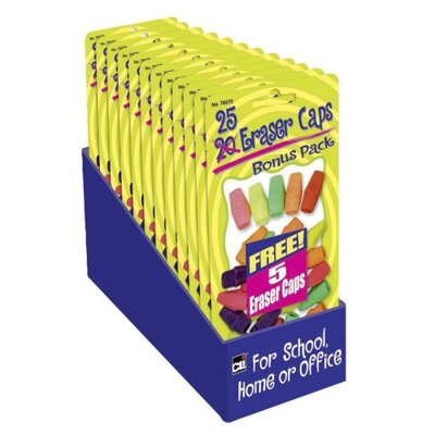 Charles Leonard Co. Eraser Pencil Capacitys, Assorted (Set of 10)