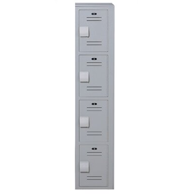 Lenox Plastic Lockers Plastic Locker - 4 Tier - 1 Section