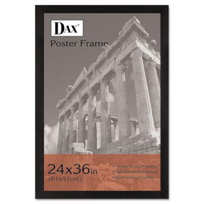 DAX® Black Wood Poster Frame with Plexiglas Window, Wide Profile, 24 x 36