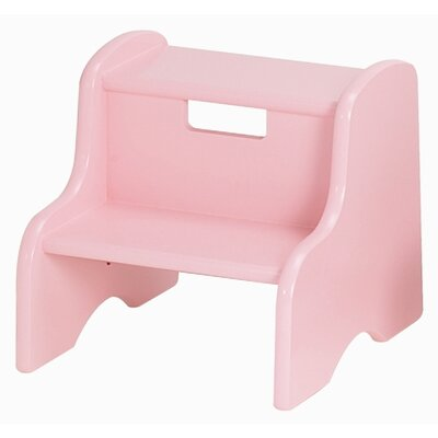 Kid's Step Stool in Soft Pink