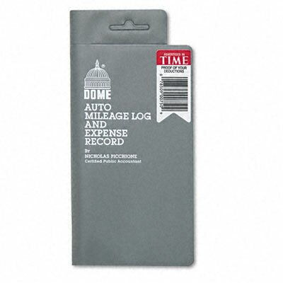 Dome Publishing Company, Inc. Mileage Log/Expense Record, 3-1/2 x 6-1/2, 140-Page Book