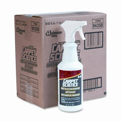 DRACKETT PROFESSIONAL                              Carpet Science Spot and Stain Remover, 32 Oz Trigger Spray Bottle, 6/Carton