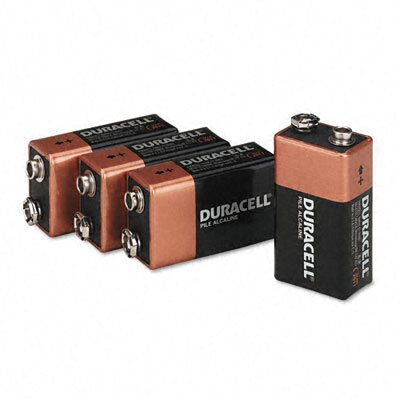 Duracell Coppertop Alkaline Batteries, 9V, 4/pack