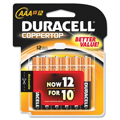 Duracell AAA-Cell Coppertop Alkaline Batteries