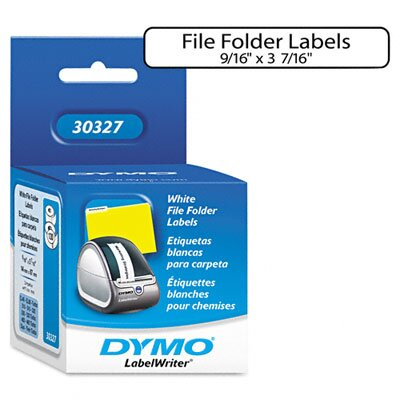 Dymo Corporation 1-Up File Folder Labels, 260/Box