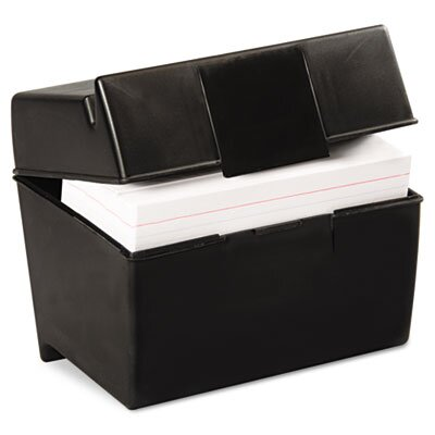 Esselte Pendaflex Corporation Oxford Plastic Index Card Flip Top File Box Holds 400 4 x 6 Cards