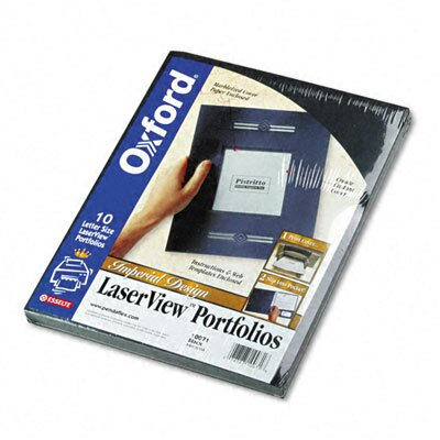 Esselte Pendaflex Corporation Oxford Imperial Series Laserview Business Portfolio, Cover Stock, 10/Pack