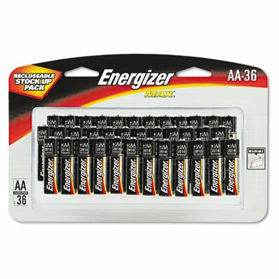 Energizer® Max Alkaline Batteries, Aa, 36 Batteries/Pack