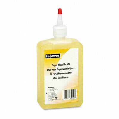 Fellowes Mfg. Co. Shredder Oil, 12 Oz. Bottle with Extension Nozzle