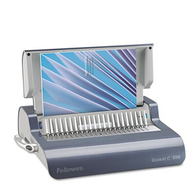 Fellowes Mfg. Co. Quasar Comb Binding System, 500 Sheets, 18-1/8W X 15-3/8D X 5-1/8H
