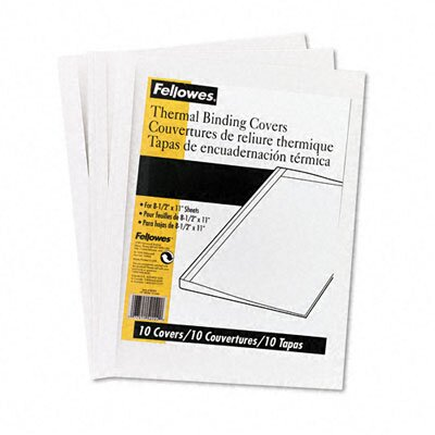 Fellowes Mfg. Co. Thermal Binding System Covers, 60 Sheets, 10/Pack