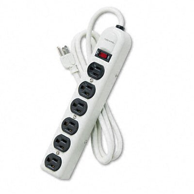 Fellowes Mfg. Co. Six-Outlet Power Strip, 120V, 6Ft Cord