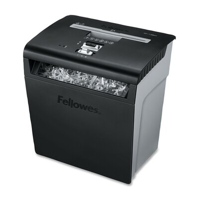 Fellowes Mfg. Co. Powershred P-48C Deskside Cross-Cut Shredder, 8 Sheet Capacity