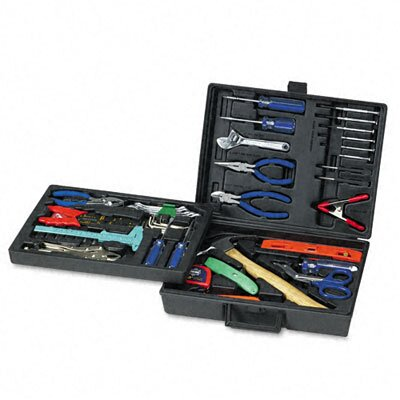 GREAT NECK 110 Piece Home/Office Tool Kit, Drop Forged Steel Tools, Black Plastic Case