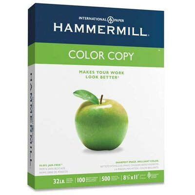 Hammermill Color Copy Paper, 98 Brightness, 32Lb, 500/Ream