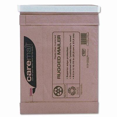 HENKEL CORPORATION Caremail Rugged Padded Mailer, Side Seam, 8 1/2 x 10 3/4, Light Brown, 25/pack
