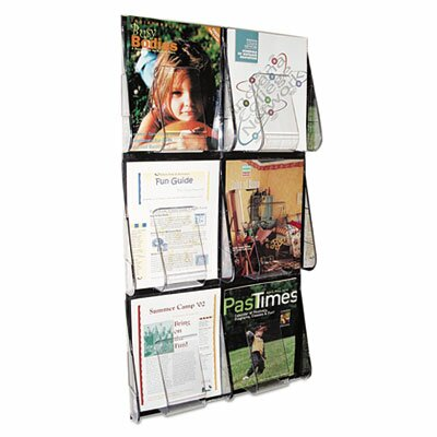 "Deflect-O Corporation Multi-Pocket Wall-Mount Literature Systems, 35.25"" High"