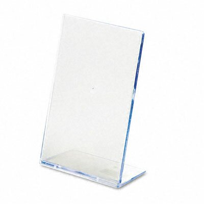 "Deflect-O Corporation Slanted Desk Sign Holder, 4"" Wide"