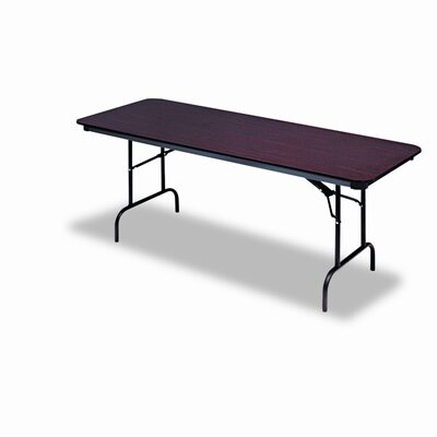 "Iceberg Enterprises Premium Wood Laminate 30"" x 96"" Folding Table"