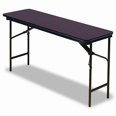 "Iceberg Enterprises Premium Wood Laminate 18"" x 60"" Folding Table"