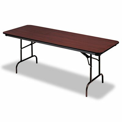 Iceberg Enterprises Premium Wood Laminate Folding Table, Rectangular, 72W X 30D X 29H