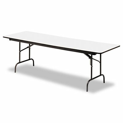 Iceberg Enterprises Premium Wood Laminate Folding Table, Rectangular, 96W X 30D X 29H