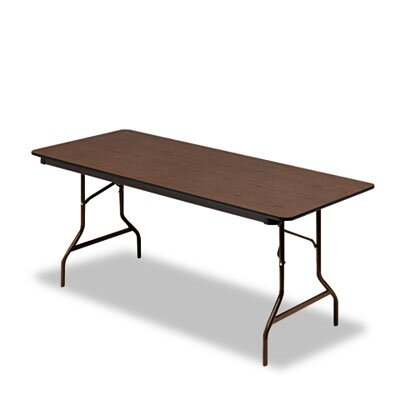 Iceberg Enterprises Economy Wood Laminate Rectangular Folding Table, Rectangular, 72W X 30D