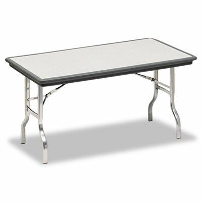 Iceberg Enterprises Indestruc-Tables Too Folding Table, Rectangular, 60d x 30d x 29h, Charcoal
