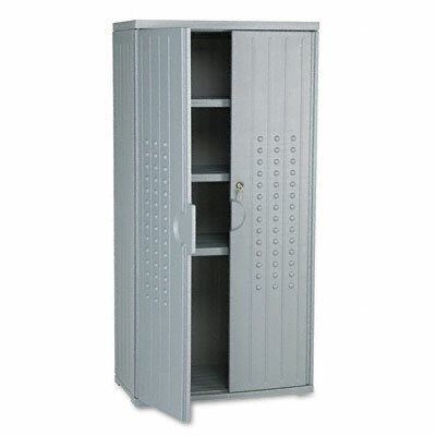 Iceberg Enterprises Officeworks Resin Storage Cabinet, 33W X 18D X 66H