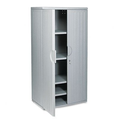 Iceberg Enterprises Officeworks Resin Storage Cabinet, 36W X 22D X 72H