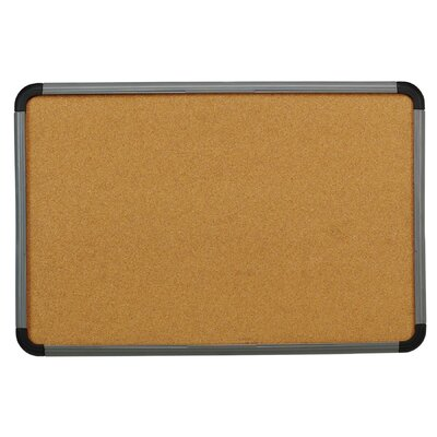 "Iceberg Enterprises 36"" Cork Board with Blow Mold Frame in Charcoal"