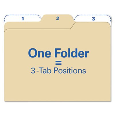 Ideastream Products Findit File Folders, 1/3 Cut, 11 Point Stock, Letter, Manila, 80/Pack