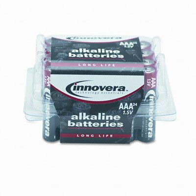 Innovera® Alkaline Battery, 24/Pack
