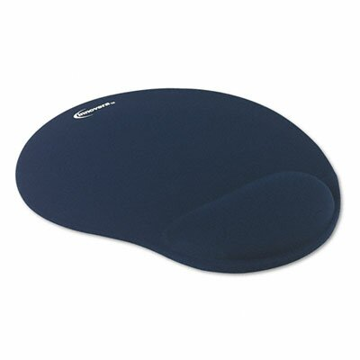 Innovera® Mouse Pad with Gel Wrist Pad, Nonskid Base