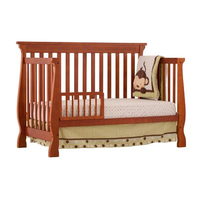 Storkcraft Carrara Fixed Side Convertible Crib in Cognac