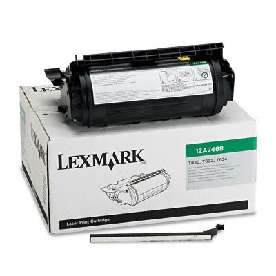 Lexmark International 12A7468 Laser Cartridge, High-Yield, Black