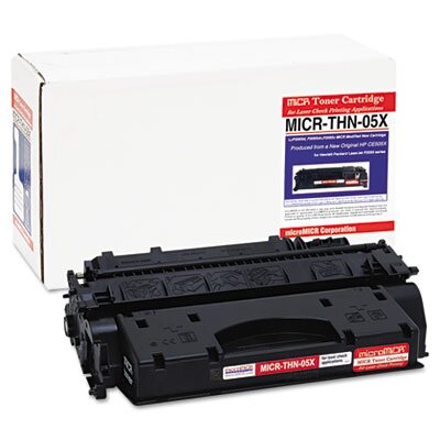 MicroMICR Corporation MICRTHN05X Compatible MICR Toner, 6500 Page-Yield, Black