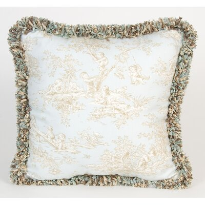 Glenna Jean Central Park Toile Pillow with Fringe