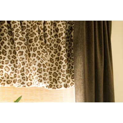 Glenna Jean Tanzania Velvet Rod Pocket Tailored Curtain Valance