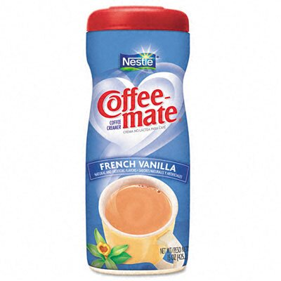 Nestle' USA Coffee-Mate French Vanilla Creamer Powder, 15-oz Plastic Bottle